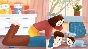 母婴主题之父母与婴儿温馨