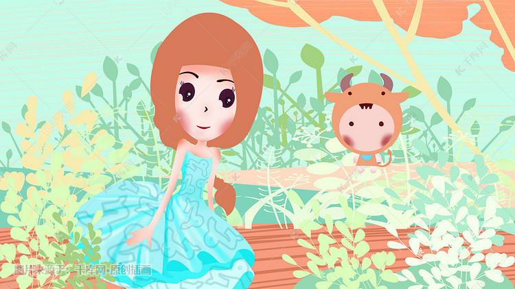 女生图片12女孩之摩羯座插画主见摩羯座星座有卡通吗图片