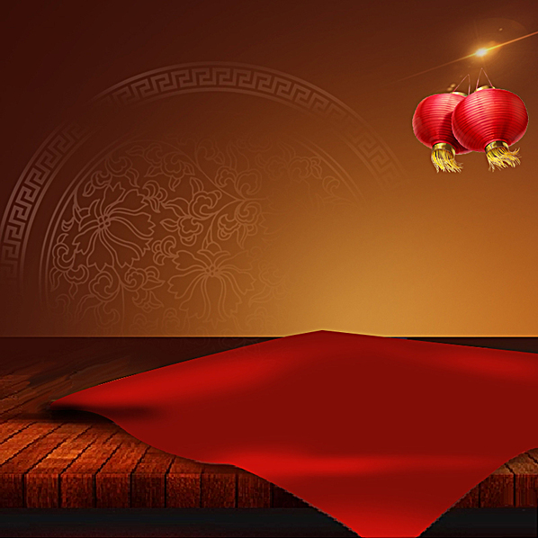 中国风红色灯笼淘宝主图背景