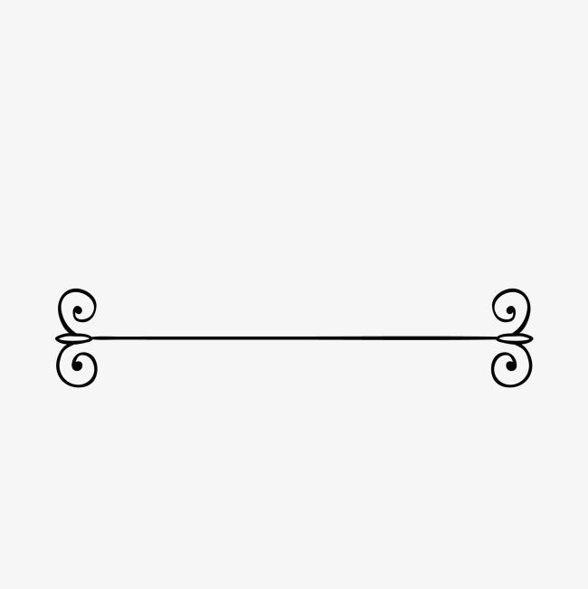 黑白手绘古典线条分割线