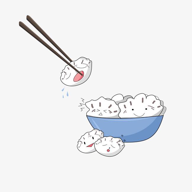 卡通可爱一碗饺子表情包
