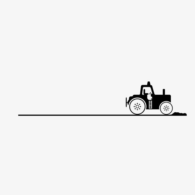 黑色手绘老爷车分割线装饰设计矢量图