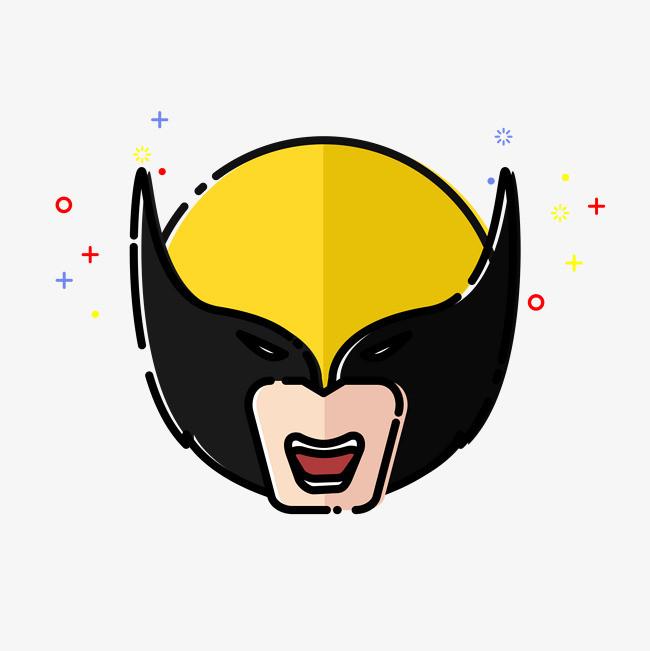 超级英雄金刚狼卡通头像