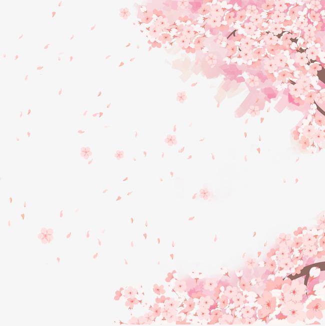 浪漫樱花与女孩主题边框素材图片免费下载 高清psd 千库网 图片编号10185143