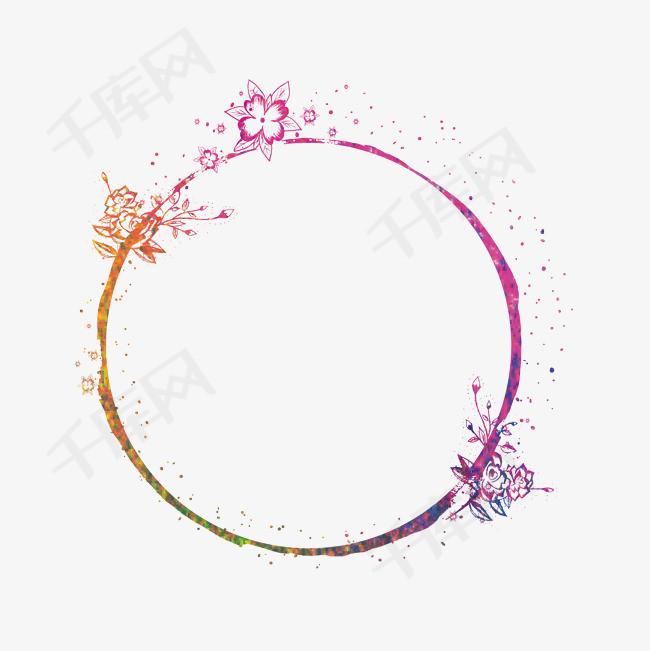 彩色水墨边框设计素材图片免费下载_高清psd_千库网