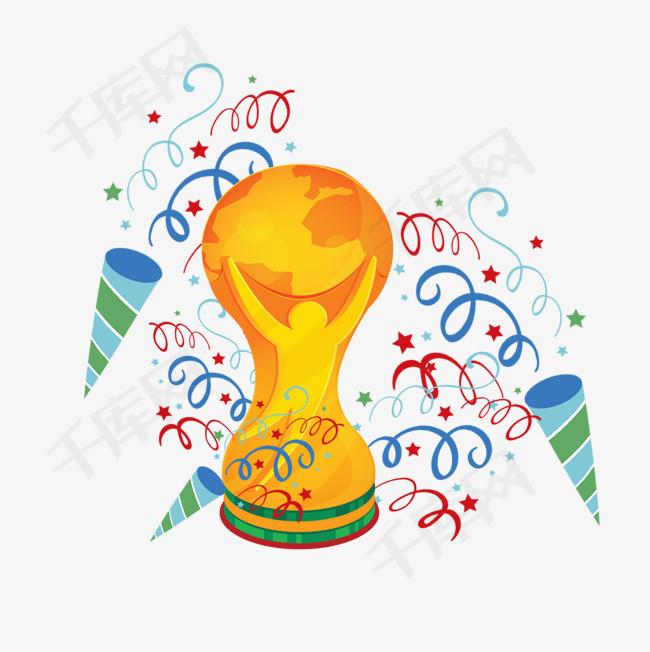 2018俄罗斯足球世界杯奖杯设计插画