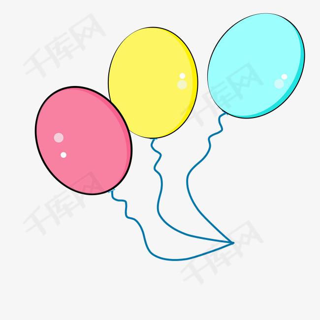 手绘小清新气球免抠图                                    卡通手绘