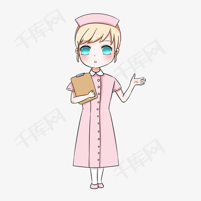 医院护士手绘卡通图片