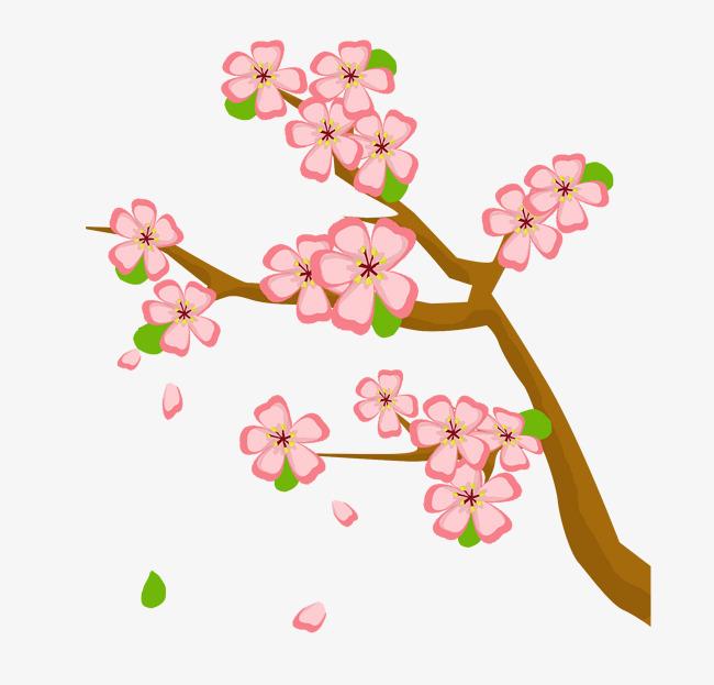 桃花树免抠_免扣飘落的桃花素材图片免费下载_高清psd_千库网(图片编号9225258)