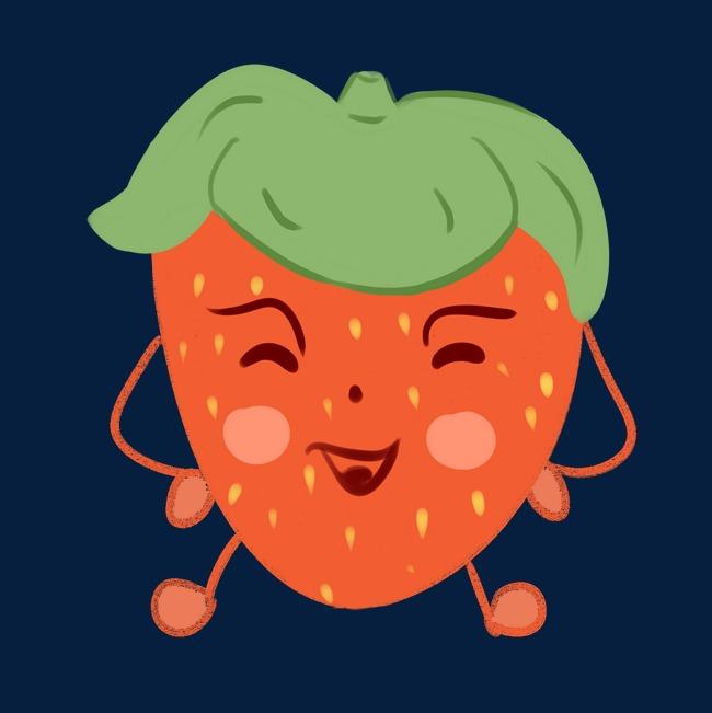 草莓水果高清表情素材图片免费下载_表情p捂手的图片卡通图片