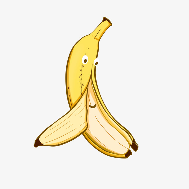 剥皮的表情高清水果素材图片免费下载_香蕉柳树发芽儿童画图片