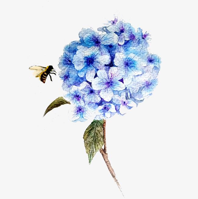 蓝色绣少女唯美鸿图水彩PNG素材图片免费下铁艺球花家具设计图片