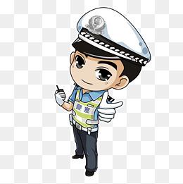 卡通手绘交通警察图片