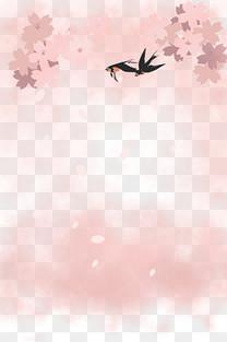 春天燕子花开装饰插画