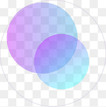 蓝紫色科技风边框背景线条电商免抠PSD