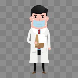 戴口罩的医生矢量素材图片