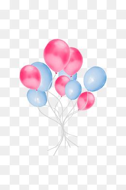 手绘可爱气球装饰素材