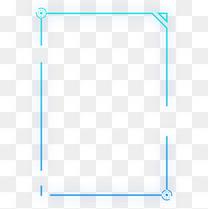 蓝色渐变发光现代几何方形科技边框