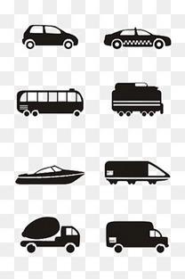 黑白汽车图标大全