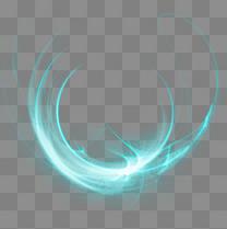 蓝色光斑光点元素