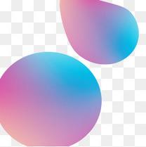 唯美蓝紫色流体渐变元素