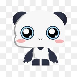 机器小熊猫手绘插画表情素材图片免费下载 高清psd 千库网 图片编号10688249