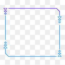 蓝色科技感外发光几何方形三角形边框