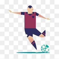 世界杯足球选手矢量免扣