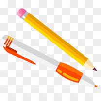 暑假培训班素材铅笔中性笔