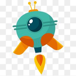 卡通矢量宇宙飞船图片