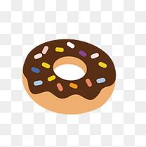 巧克力甜甜圈矢量免抠图