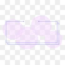 卡通粉笔粉紫色边框