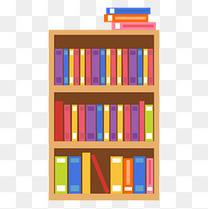 图书馆书架上的书籍矢量图