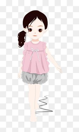 童装模特秀之夏日穿搭粉色套装