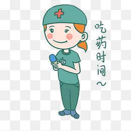 医疗器械主题体温针卡通插画图片