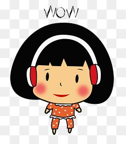 可爱小女孩微信表情呼哇_【哇表情素材】_哇表情图片大全_哇表情素材免费下载_千库网png