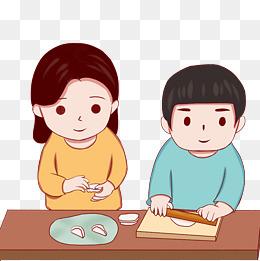 包饺子步骤动态表情包分享展示图片
