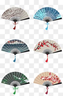 中国风古风手绘扇子合集