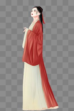 汉服古装古风中国风手绘美少女png