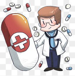 医疗听诊器卡通插画图片