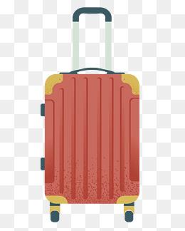 手绘行李箱包插画