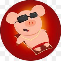 小猪a表情的笑表情动态配图模板下载表情植物带字卡通图图片