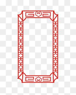 矢量手绘中国风边框