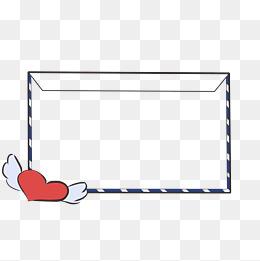 信封卡通手绘线性对话框纹图片