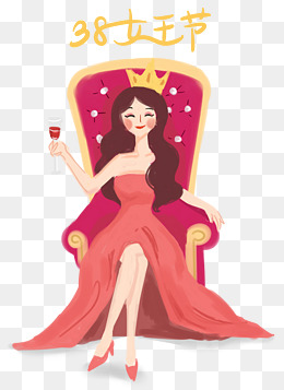 38妇女节女王节手绘插画