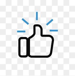 点赞简笔画_简笔画单手点赞拇指免抠元素