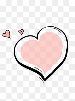 情人节爱心粉色手绘边框