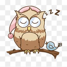 小鸡睡眠睡觉插画图片