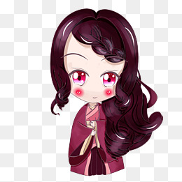 妇女节天蝎座星座女神卡通人物紫色psd分层图片