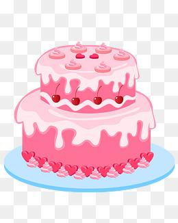 矢量手绘卡通蛋糕